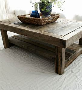 reclaimed barnwood coffee table by everettco on scoutmob With coffee tables made from old barn wood