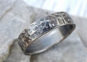 Viking Mens Ring Silver Industrial Wedding Band Mens Promise