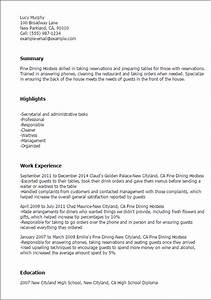 hostess resume gallery With hostess resume examples
