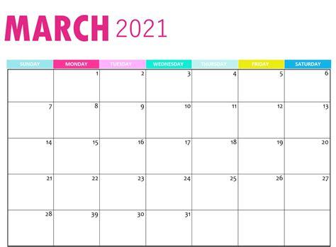 calendar  march template worksheet set