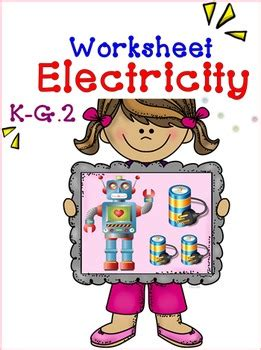 electricity worksheet     smiley teacher tpt