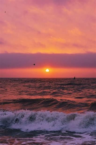 Vsco Beach Wave Wallpapers Sunset Ocean Waves