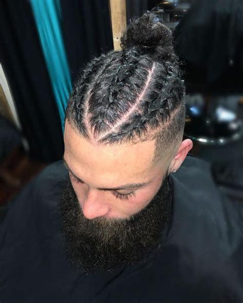 hommes tresse style coupe de cheveux