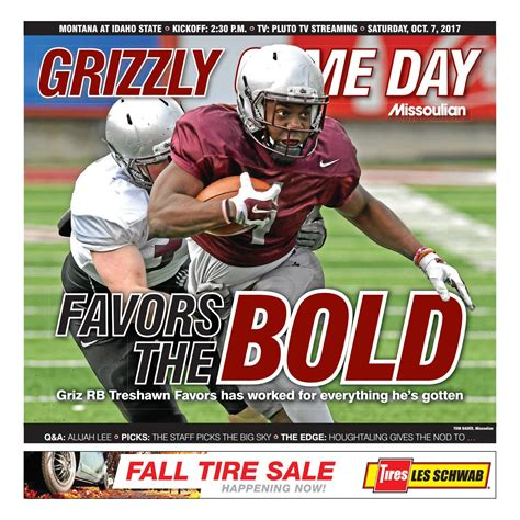 Game Day Saturday October 7 2017 by Missoulian Issuu