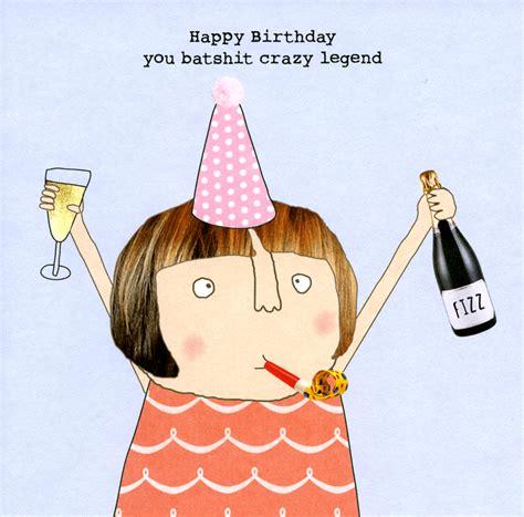 modern cake stand birthday card batshit legend rosie made a