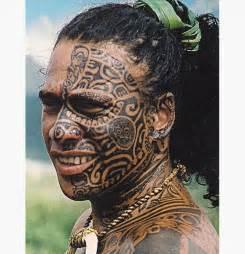 Maori Face Tribal Tattoo Designs