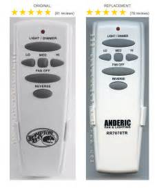 hton bay replacement ceiling fan remote control for