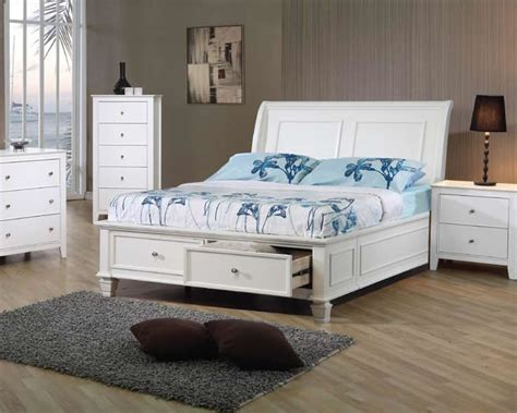 white size bed with storage bed bed with storage chicago furniture white 20980