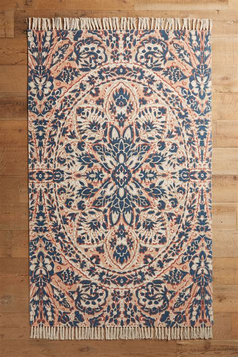 rug anthropologie rugs dark floors wood juliol floor pattern floral area bath round touches farmhouse arrival items newer coral curtains