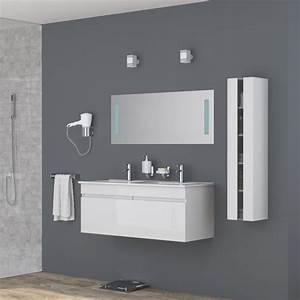 Meuble Salle De Bain Double Vasque 120 Cm : meuble salle de bain 120 cm achat vente meuble salle ~ Edinachiropracticcenter.com Idées de Décoration