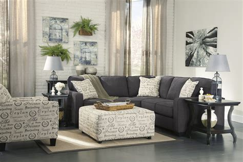 Furniture : Alenya Charcoal Laf Sectional From Ashley