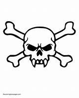 Coloring Skull Crossbones Pages Evil Bones Drawing Skulls Fangs Template Clipart Pdf Clip Templates Getdrawings sketch template