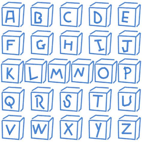 baby blocks  embroidery patterns home format fonts