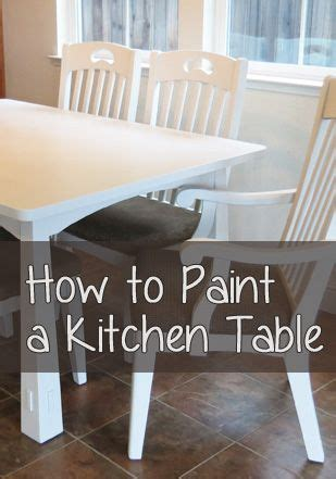paint  table correctly craft painted kitchen