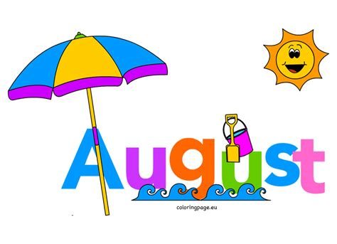 Month Of August Clipart   Free download on ClipArtMag