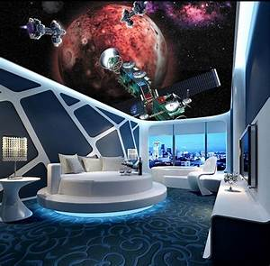 Custom papel DE parede 3 d, star and space shuttle for the ...