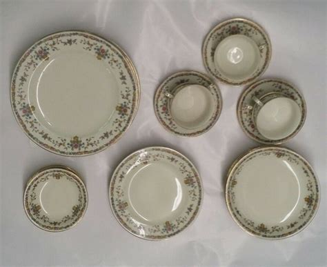 czechoslovakia china dinnerware epiag porcelain service floral