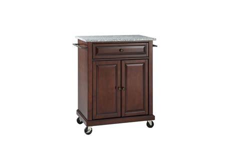 solid granite top portable kitchen cartisland  vintage