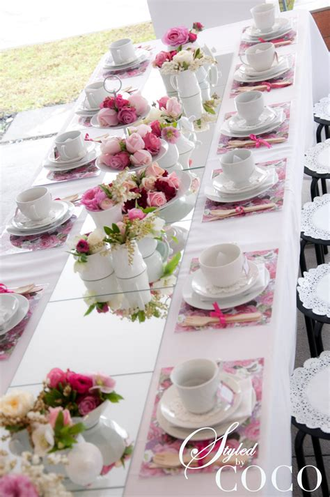 tea party table settings ideas pretty in pink kitchen tea tickled pink party ideas