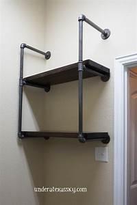 Diy Pipe Shelves Laundry Room - DIY Unixcode