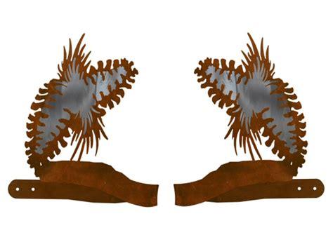 pine cone metal curtain tie backs rustic curtain accessories