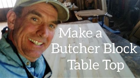 butcher block table top complete   youtube