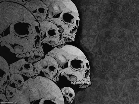 gothic skull picture extra wallpaper p