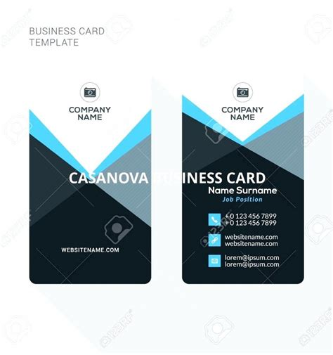 Cards Templates by Sided Business Card Template Word Vertical
