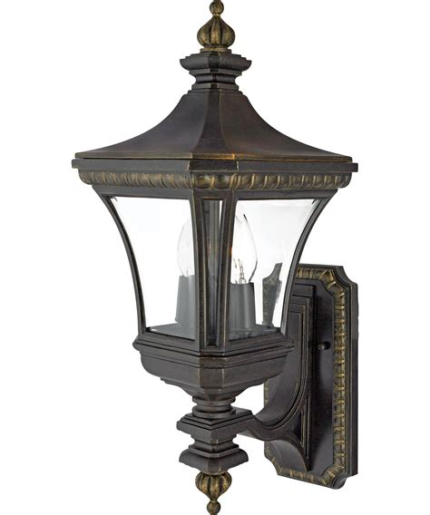 quoizel de8959 2 light outdoor wall light capitol