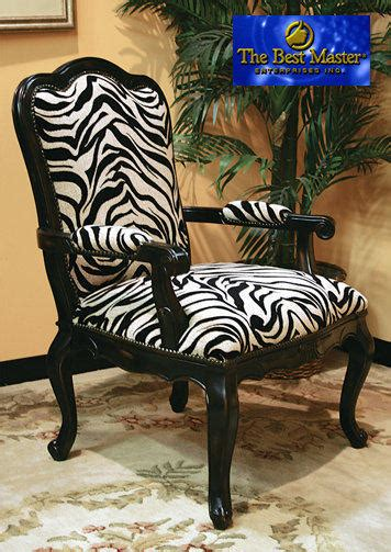 zebra accent chair contemporary fabric chair  black