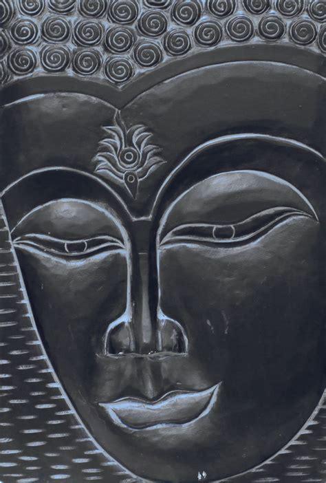 enlightened buddha black  arthouse wallpaper direct