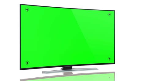 tv green screen template white ultrahd smart tv with curved green screen on white