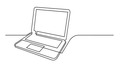 continuous  drawing  laptop computer  white