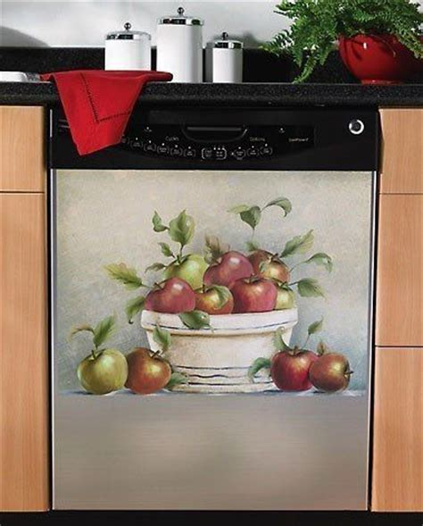 country apple kitchen decor best 25 dishwasher cover ideas on faux tin 5937