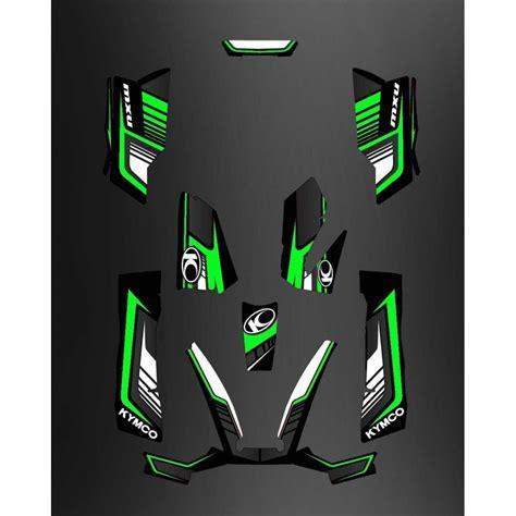 kit deco limited green kymco 550 700 mxu idgrafix
