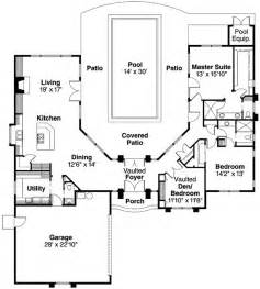pool house plans with bedroom plan 72108da wrap around central courtyard with large