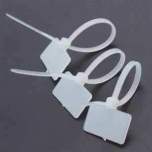 250pcs Zip Ties Write Wire Power Cable Label Mark Tag Nylon Self Locking Label Tie Network Cable