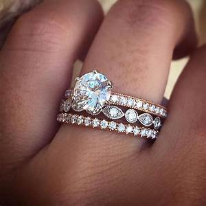 mix and match wedding bands gabriel weddings and rose With mix and match engagement ring and wedding band