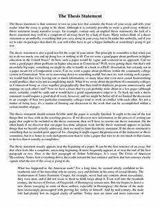 Essay Help Thesis Statement