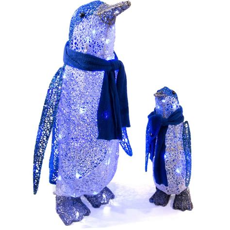 light up penguin christmas decoration shop gemmy lighted penguin outdoor decoration with blue constant led lights at lowes