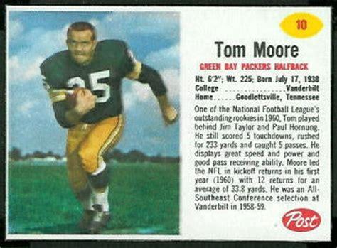 tom moore  post cereal  vintage football card