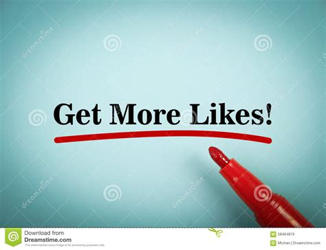 Get More Likes Stock Photo  Image 58464819