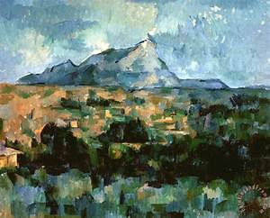 Paul Cezanne Montagne Sainte Victoire 1904 06 Oil on ...