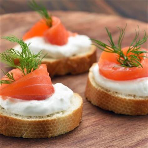 appetizers smoked salmon canapes recipe recipe4living