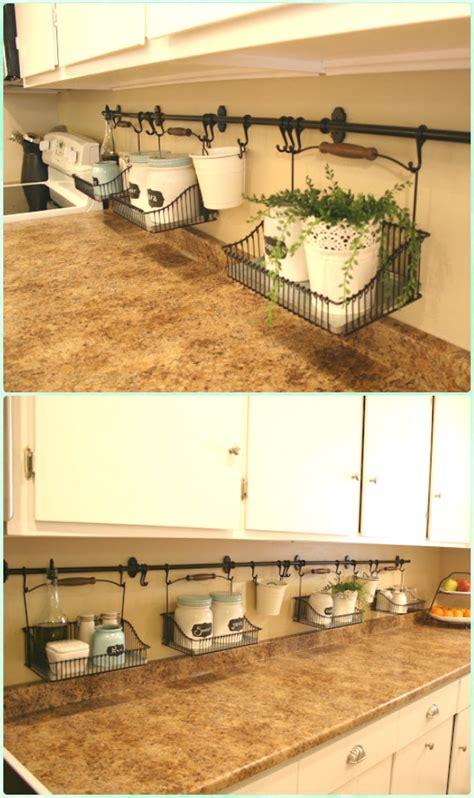 diy space saving hacks  organize  kitchen