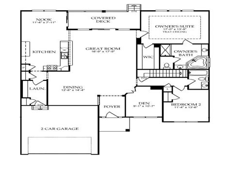 Single Story Open Floor Plans Single Story Open Floor