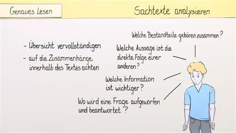 sachtextanalyse deutsch  lernen