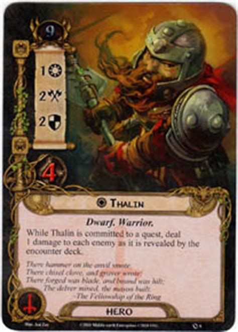 lotr lcg deck lists thalin set lord of the rings lcg lord of the