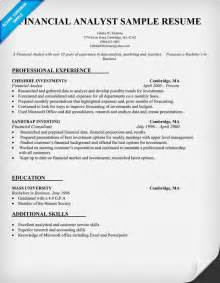 resume of financial reporting analyst financial analyst cover letter exles