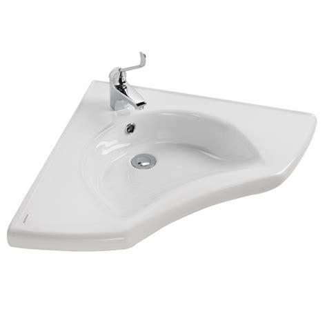 Lavabo D Angle Lavabo D Angle New Wccare 62x62cm Perc 233 1 Trou Blanc Sanindusa R 233 F 129700